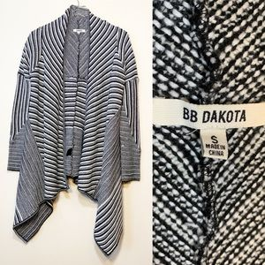 BB Dakota | Black & White Cardigan | Small